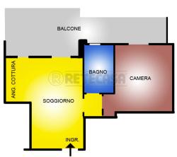 Bilocale in Vendita a Pescara, zona portanuova, 160'000€, 58 m²