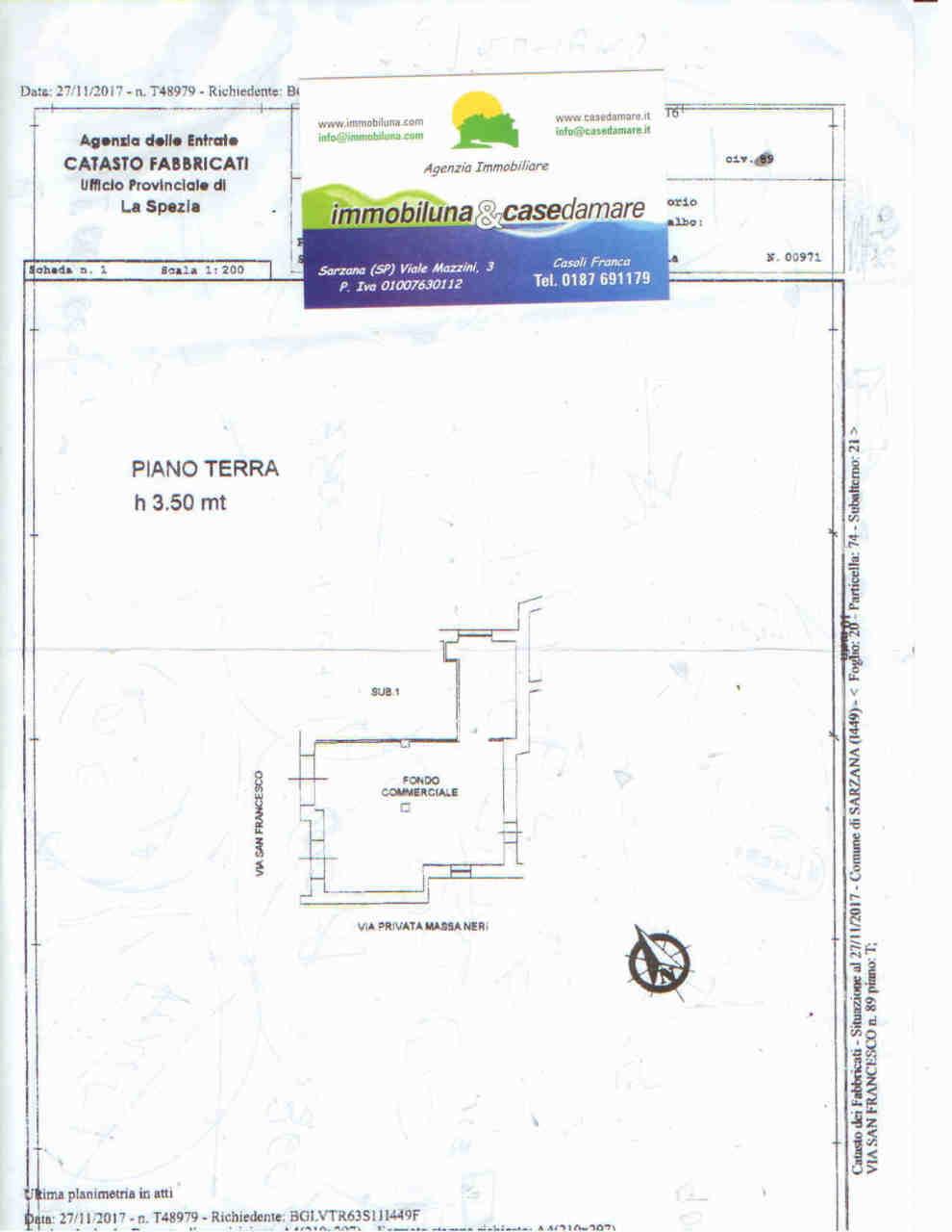 Negozio / Locale in affitto a Sarzana, 1 locali, prezzo € 500   CambioCasa.it
