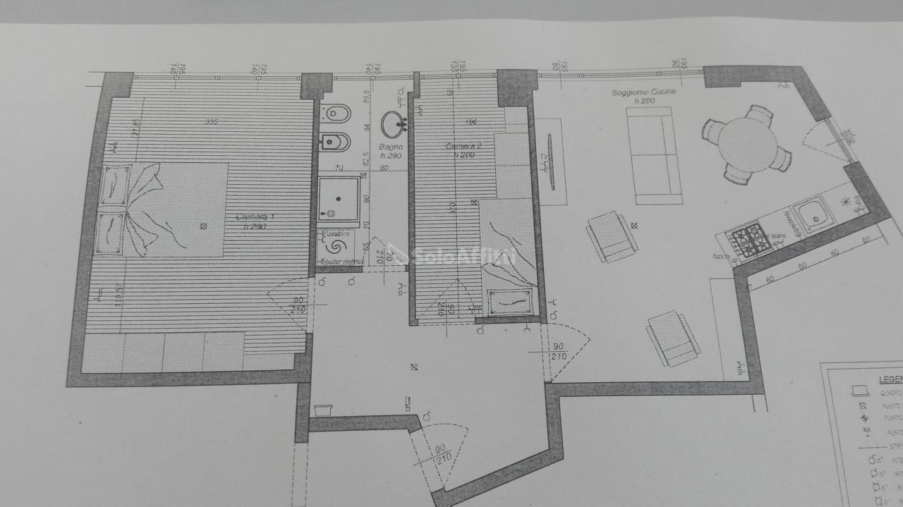 Trilocale in ottime condizioni arredato in affitto Rif. 9588839