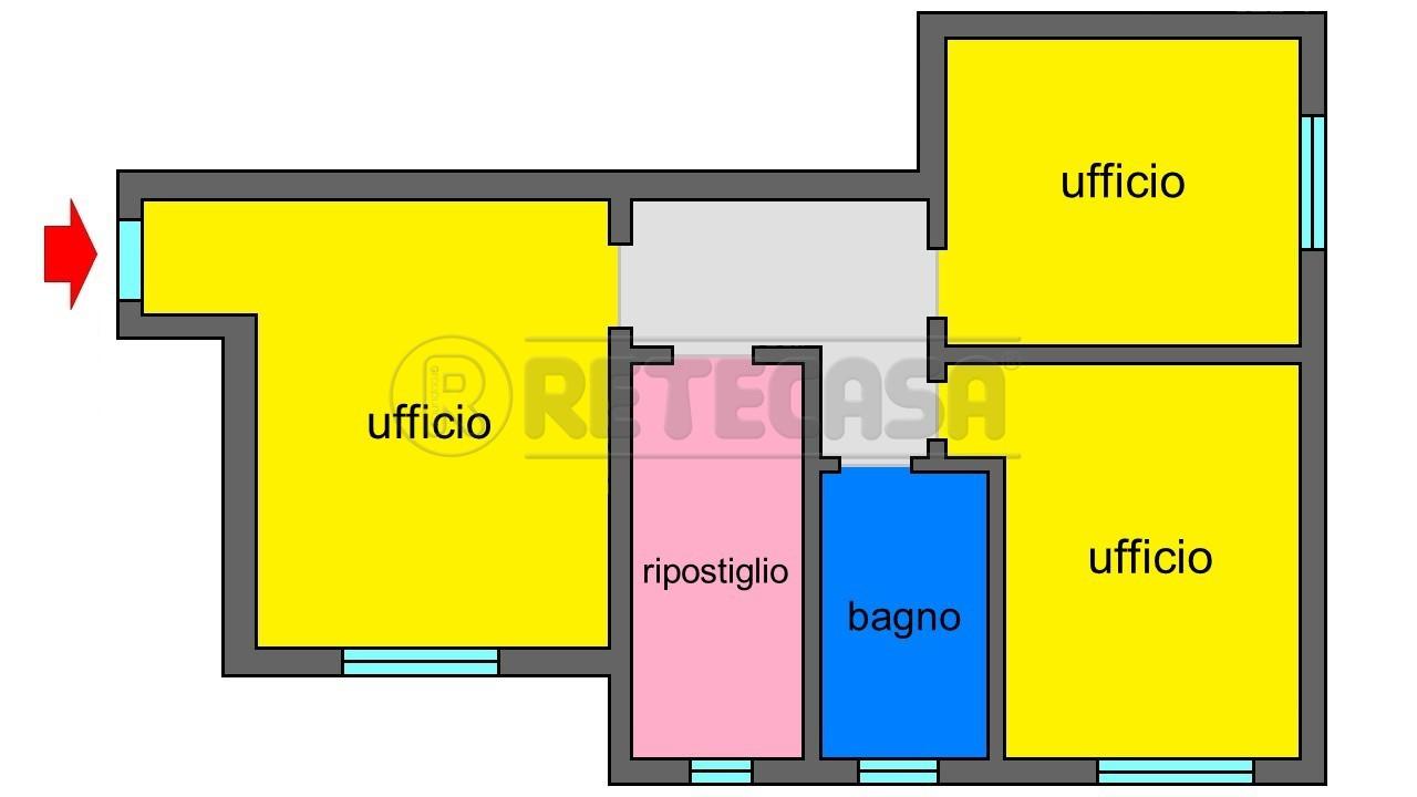 Ufficio / Studio in affitto a Mantova, 5 locali, prezzo € 650   CambioCasa.it