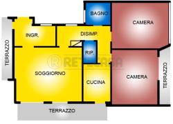 Trilocale in Vendita a Pescara, 190'000€, 100 m²