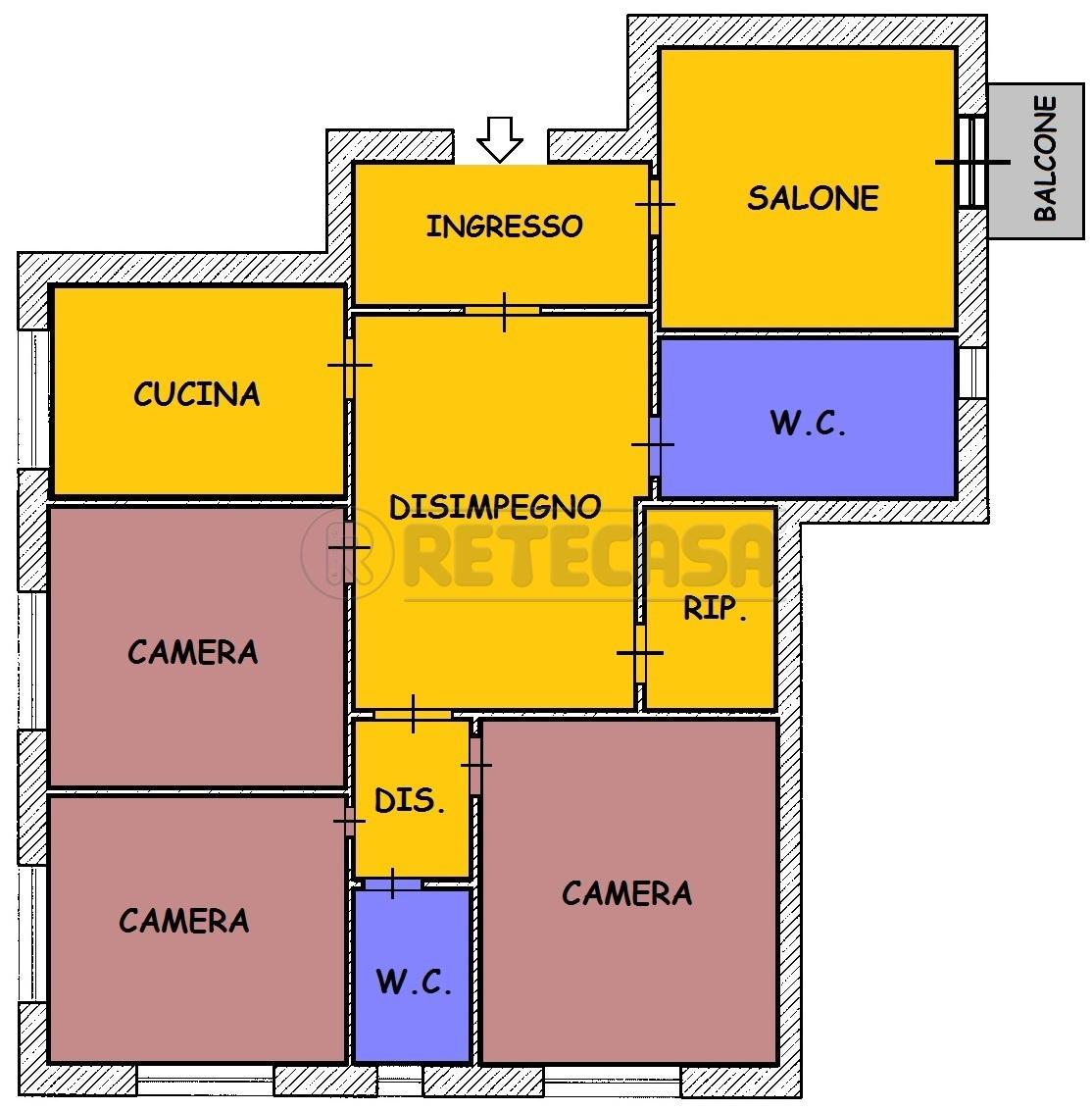 Quadrilocale da ristrutturare in vendita Rif. 8858852