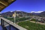 la vista su Aosta