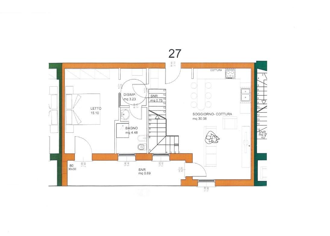 Appartamento in ottime condizioni in vendita Rif. 10048871