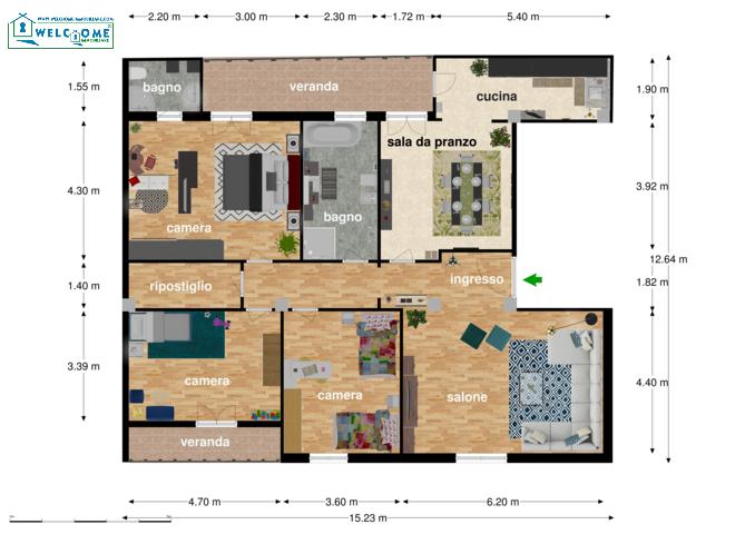 Appartamento - Quadrivano a Quartucciu