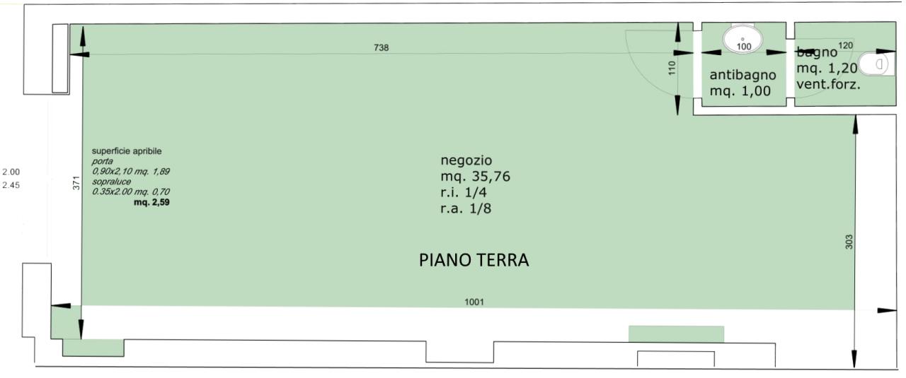Locale commerciale - 1 Vetrina a Torre del Moro, Cesena